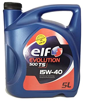 Elf 1951052031 - Aceite de Motor Evolution 500 TS 15w40 5l: Amazon.es: Coche y moto