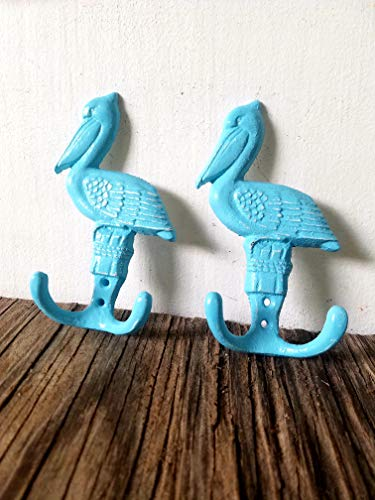 PASTEL BLUE PELICAN HOOKS – SET OF TWO – BABY SHOWER GIFT
