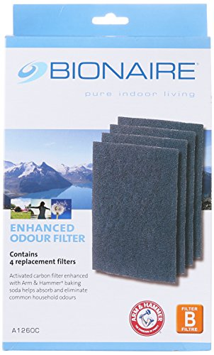 Bionaire A1260C Carbon Replacement Filters, 4-pack