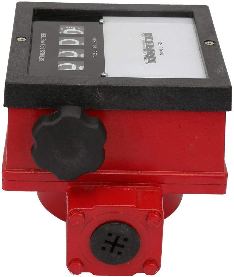 40~110L//min Practical Vertical//Level Installation Four-bit Return-to-0 Eight-bit Accumulation Mechanical Fuel Stream Meter for Multiple Occasions Jarchii G1 Stream Meter