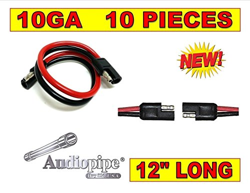 12' Inch Quick Disconnect Connect 10 Gauge 2 Pin Polarized Wire Harness 10 Pack