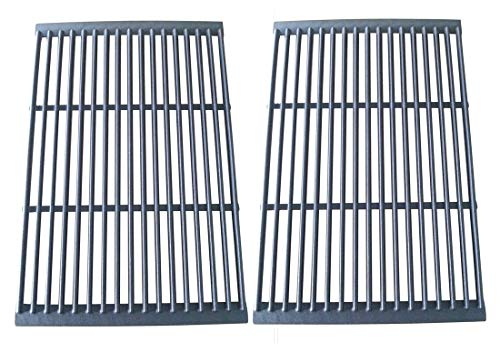 Hongso PCF662 Porcelain Cast Iron Cooking Grate Replacement for Brinkmann, Charbroil, Charmglow and Other Grills, Set of ()