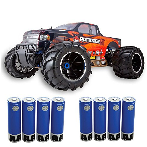 Redcat Rampage MT V3 Gas Truck (1/5 Scale), Orange/Flame, (Includes AA batteries for the radio)