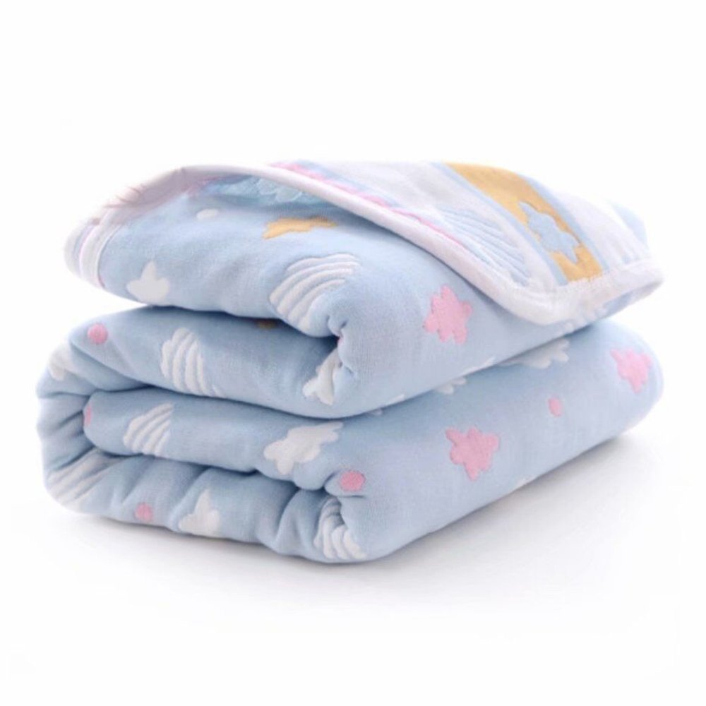 """Mom's Love Baby Lightweight Toddler Blanket Hypoallergenic Bedding Blankets Ultra Soft Breathable and Thermal Best Newborn Bed Premium Gift Blankets 47""""x 59"""""""