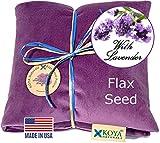 KOYA Naturals Soft Velvet Flax Seed Pillow with