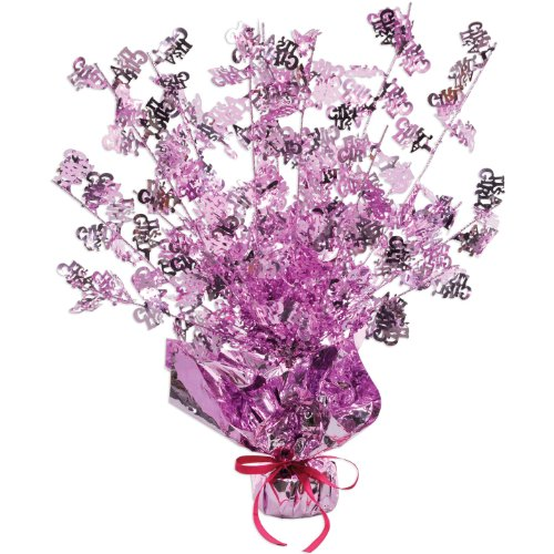 It's A Girl Gleam 'N Burst Centerpiece Party Accessory (1 count) (1/Pkg) ()
