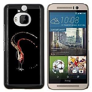 LECELL--Funda protectora / Cubierta / Piel For HTC One M9Plus M9+ M9 Plus -- Red & White Vine --