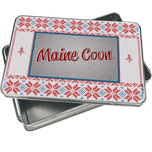 NEONBLOND Cookie Tin Box Maine Coon, Cat Breed United States