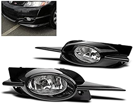 09-11 CIVIC 2DR COUPE FACTORY STYLE REPLACEMENT FOG LIGHTS LAMPS KIT SET CLEAR