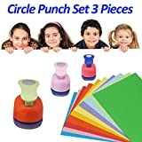 Esthesia Crafts Punch 3PCS Circle Punch Set