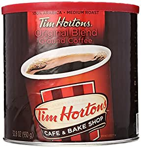 Tim Hortons 100% Arabica Medium Roast Original Blend Ground Coffee, 32.8 Ounce