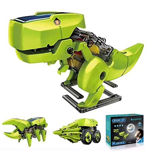 ASPPOPO STEM Projects for Kids Ages 8-12 Powerd by Solar 3 in 1 DIY Building Dinosaurs Toy Kids Science Kits Age 8 and…