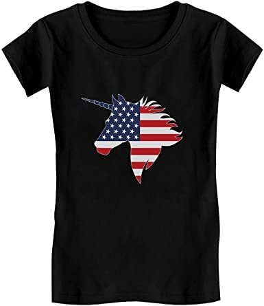 HH Family 4th of July Shirts for Girls Patriotic American Flag Kids Outfit Clothing