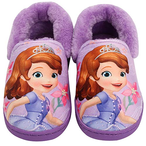 Joah Store Girl's Slippers Sofia The First Warm Lined Purple Shoes (Parallel Import/Generic Product) (9.5 M US Toddler, Sofia) -