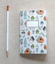 Hand Illustrated Mini Journal - Bird House