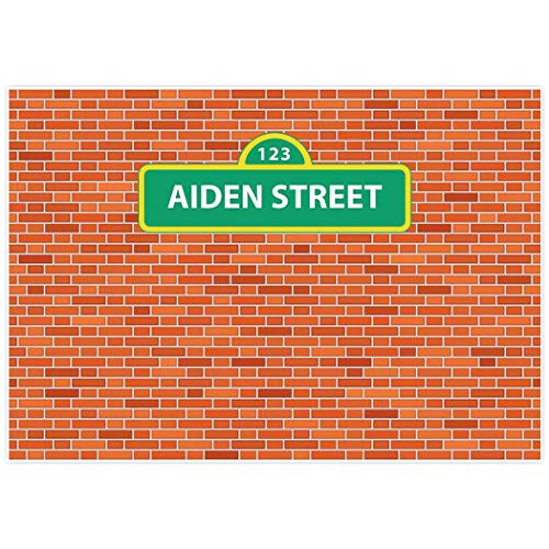 Allenjoy 7x5ft Customizable Brick Wall Street Backdrop First 1st Girl boy Birthday Party Background Supply for Dessert Candy Cake Table Decor Decoration Baby Shower Banner Photo Shoot Booth