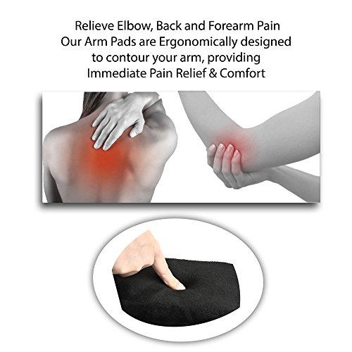 Armrest Pads Ergonomic Memory Foam High Density Anti Slip