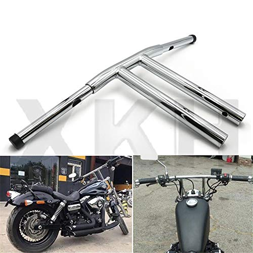 "SMT- 12"" Rise T-Bars Handlebar Drag Bar Compatible With Harley 96-17 Sportster Dyna Softail Chrome [B07LCZ8MX5]"