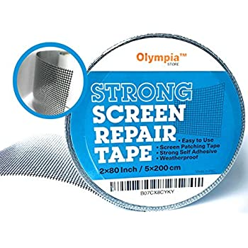 Screen Mesh Repair Patch, Best Fix For Tears And Holes, Durable And  Waterproof Screen Kit, Window Screen And Door Screen Mend Tape, Anti  Mosquito Net Patch, ...