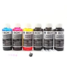 BCH Hybrid Refill Ink for HP 564, 920, 940, 950 PhotoSmart Officejet and Canon CLI PGI Cartridges- 600 ml Refill Ink Kit (Pigment Black + Dye Color)