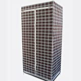 Gtc Single Layer Styles Fancy & Portable Fold-Able Closet Wardrobe Storage Organizer With Shelves 105*45*175 Cm