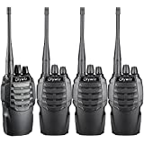 Walkie Talkies Two Way Radio Olywiz HTD826 Rechargeable Long Range 1800mAh Li-ion Battery UHF 406-470MHz 4 PACK