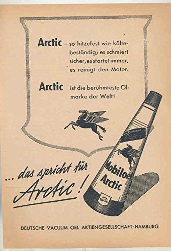 1951 Mobil Arctic Oil Ad German - Mobil Oil Arctic