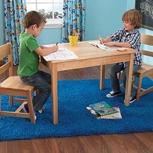 Amazon Com Kidkraft Rectangle Table And 2 Chair Set