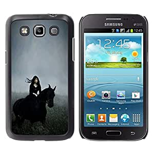Caucho caso de Shell duro de la cubierta de accesorios de protección BY RAYDREAMMM - Samsung Galaxy Win I8550 I8552 Grand Quattro - Witch Hood Riding Field Gallop