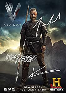 vikings poster history channel tv print cast travis fimmel katheryn winnick gustaf. Black Bedroom Furniture Sets. Home Design Ideas