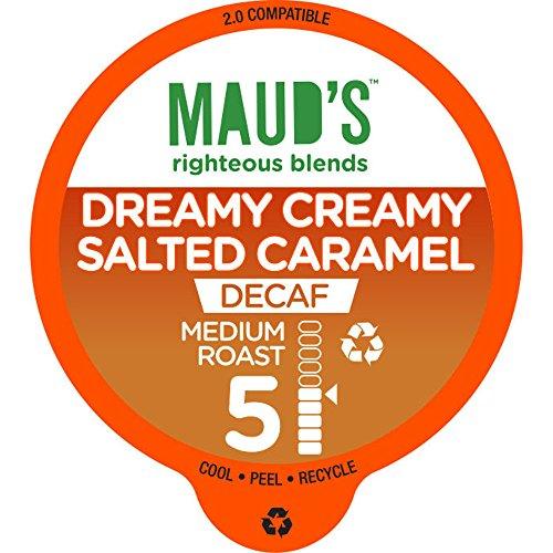 Maud's Gourmet Coffee Pods, Decaf Dreamy Creamy Salted Caramel, 48 Single Serve Coffee Pods