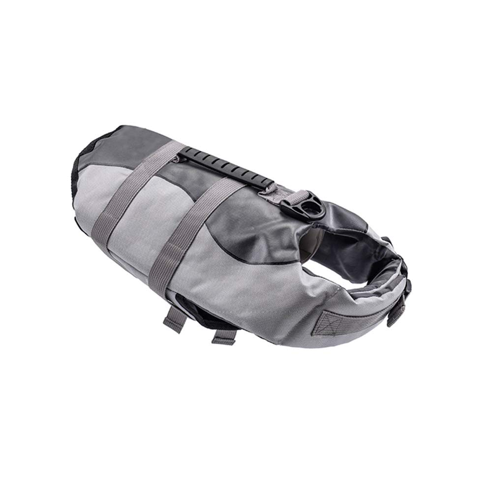 LIULINCUN Buoyancy Aid for Dogs, Dog Lifejacket Pet Swimsuit for Pets, Dog Flotation Device, Mermaid Shark Dog Summer Swimsuit,Gray,M