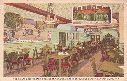F3302 PA, Lancaster Village Restaurant Postcard