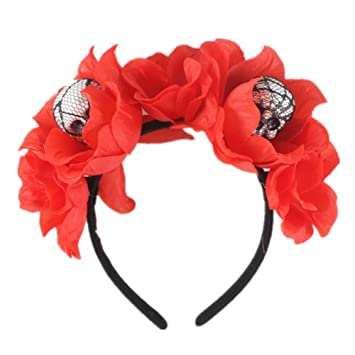 Halloween Costume Accessory Skeleton Rose Headband