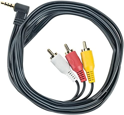 Brendaz - AV Stereo Video Cable Mini (3.5mm) Angled Male to 3 RCA Male Compatible with/Replacement for Sony CCD-TRV128