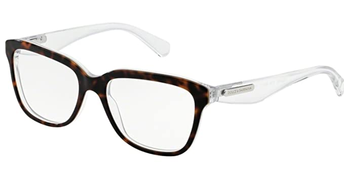 3d8093c31380 Dolce Gabbana 3 LAYERS DG3193 Eyeglass Frames 2795-52 - Havana pearl  White cryst. Roll over image to zoom in. Dolce   Gabbana