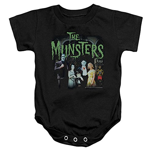 The Munsters 1313 50 Years Unisex Baby Snapsuit Black SM (6 Mos) (Grandpa Munsters)