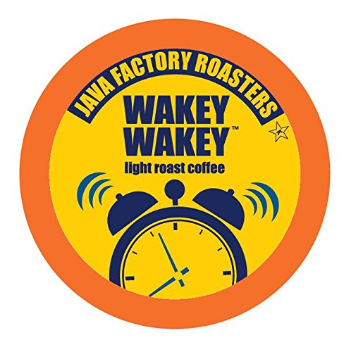 Java Factory Single Cup Coffee for Keurig K Cup Brewers, Wakey Wakey Light Roast, 80 ()