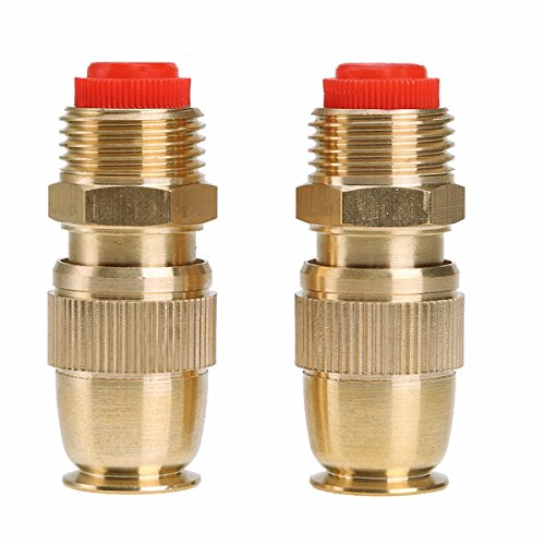Freebily 2PCS Garden Hose Pipe Water Spray Nozzle Gun Watering Tool Fitting Adaptor