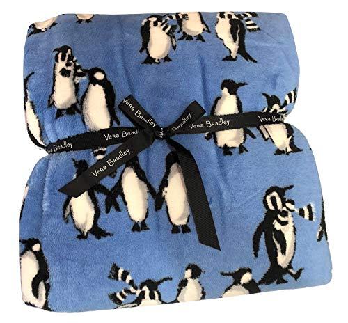 Vera Bradley Throw Blanket Playful Penguins - Blue