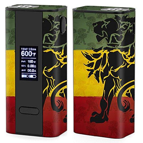 Skin Decal Vinyl Wrap for Joyetech Cuboid 150W TC watt Vape Mod Box / Rasta Lion Africa