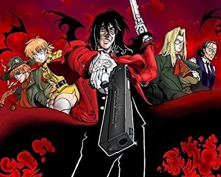 A Watercolor Rose Hellsing Anime Poster Vampire Fighting Japan Hot Art Manga Alucard Wall Print Japanese Home Decor 24x36inches Amazon Co Uk Kitchen Home