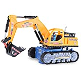 YOOYOO Flashing Wheel Musical Excavator Builder Machine Car Toy for Children