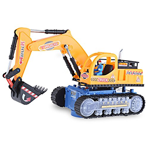 YOOYOO Flashing Wheel Musical Excavator Builder Machine Car Toy for Children (Transformers Hood Ornament compare prices)