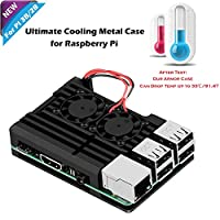 iUniker Raspberry Pi Armor Case, Raspberry Pi Metal Case With Dual Fan Aluminium Alloy, Raspberry Pi Fan, Heatsink for Raspberry Pi 3 Model B, Pi 2 B (Not Compatible With the Latest Pi 3 B+)