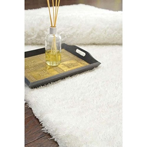 nuLOOM Snow Hand Tufted Maginifique shag Area Rug, 5' x 8' Cloud White Area Rug