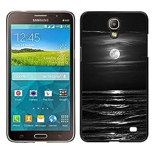 BearCase / Cubierta de protección Caso duro de la contraportada de Shell Plástico /// Samsung Galaxy Mega 2 /// Olas Negro Blanco Luna de la noche