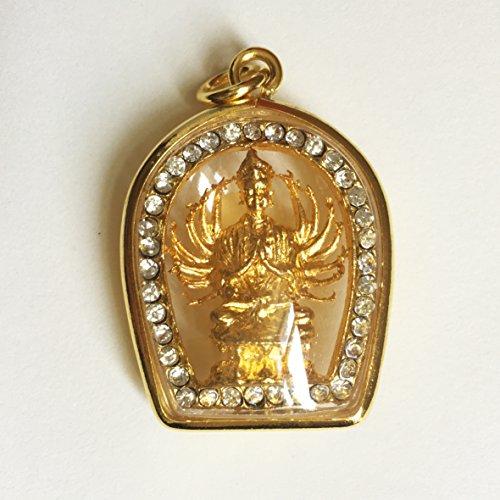 Thai Amulet Pendant Necklace Goddess Statue Chinese pendant 1000 Hands Buddha Guan Yin (Quan Yin Pendant)