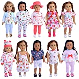 10 suits 18 inch American girl doll clothes WF-104