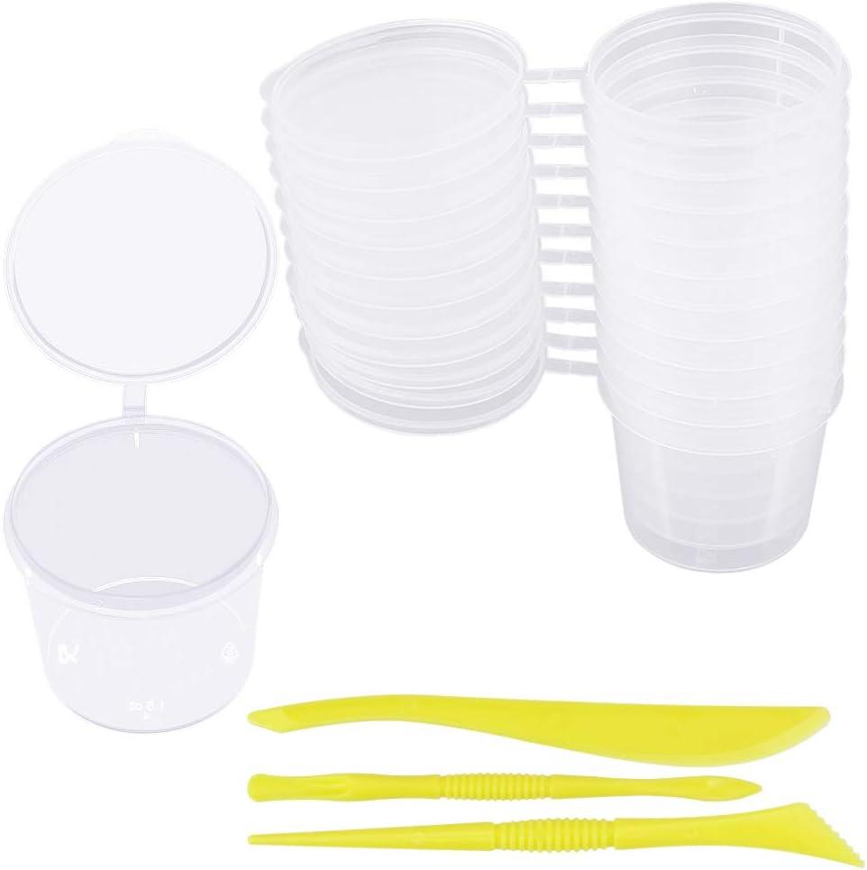LYTIVAGEN 24 PCS Contenedor de Almacenamiento, Caja de Plástico Redonda, Recipientes Transparentes con Tapa para Slime, Liquido, Joya